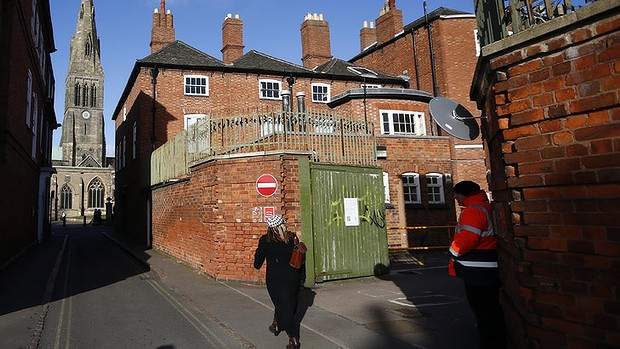 The unassuming council car park in Leicester where the monarch's remains were found. Photo: Getty, accessed via the Sydney Morning Herald website.