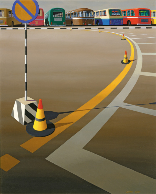'Bus terminus', Jeffrey Smart, 1973