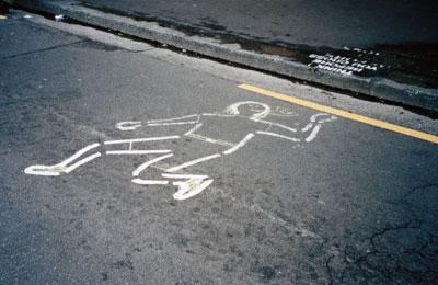 Unwise street crosser, Newtown, 1999