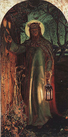 The Light of the World (1853–54) is an allegorical painting by William Holman Hunt representing the figure of Jesus preparing to knock on an overgrown and long-unopened door.