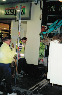 King Street repaving, 2000.