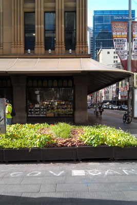 'Go vegan', Queen Victoria Building (Sydney), October 2014 (photo: meganix)