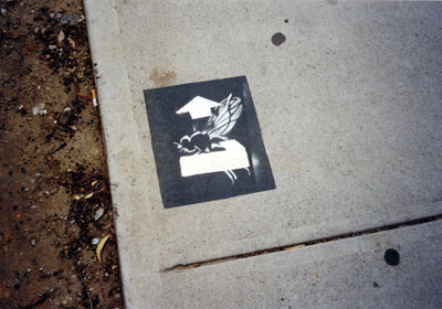 Parking space fly, Darlington, 2002.